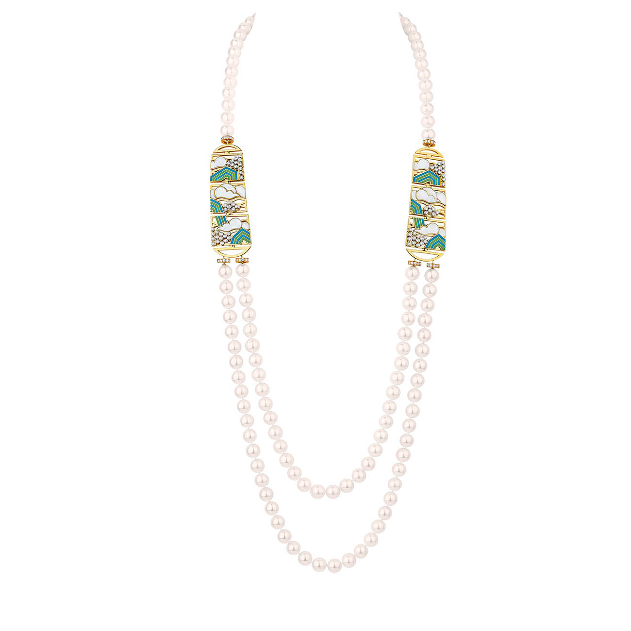 CHANEL COROMANDEL Collier Vibration Minérale Pearl Necklace