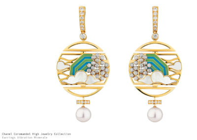 Chanel Coromandel Earrings Vibration Minerale