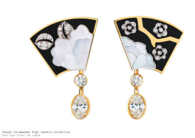Chanel Coromandel Fleur de Laque Earrings