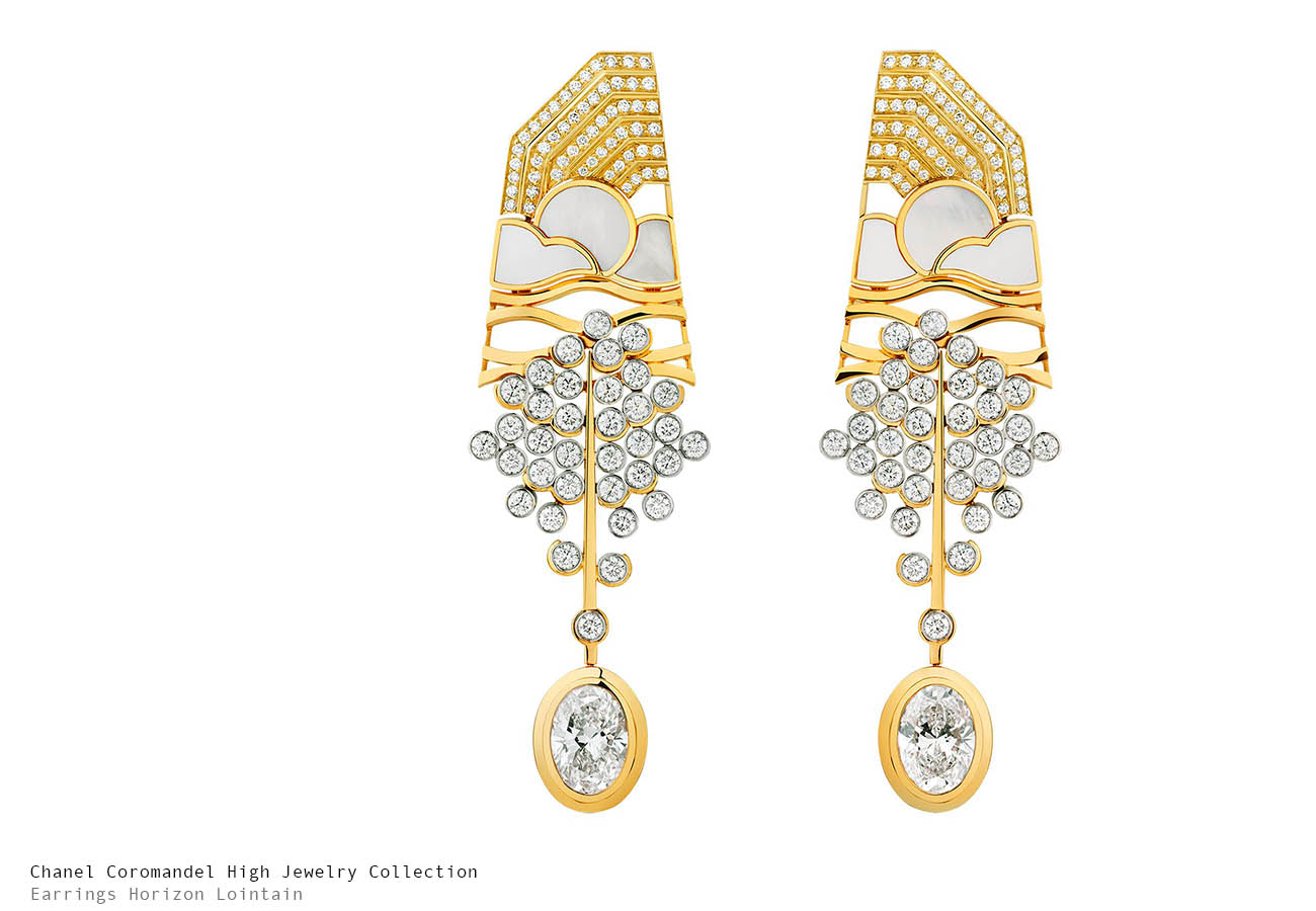 Chanel Coromandel Horizon Lointain Earrings