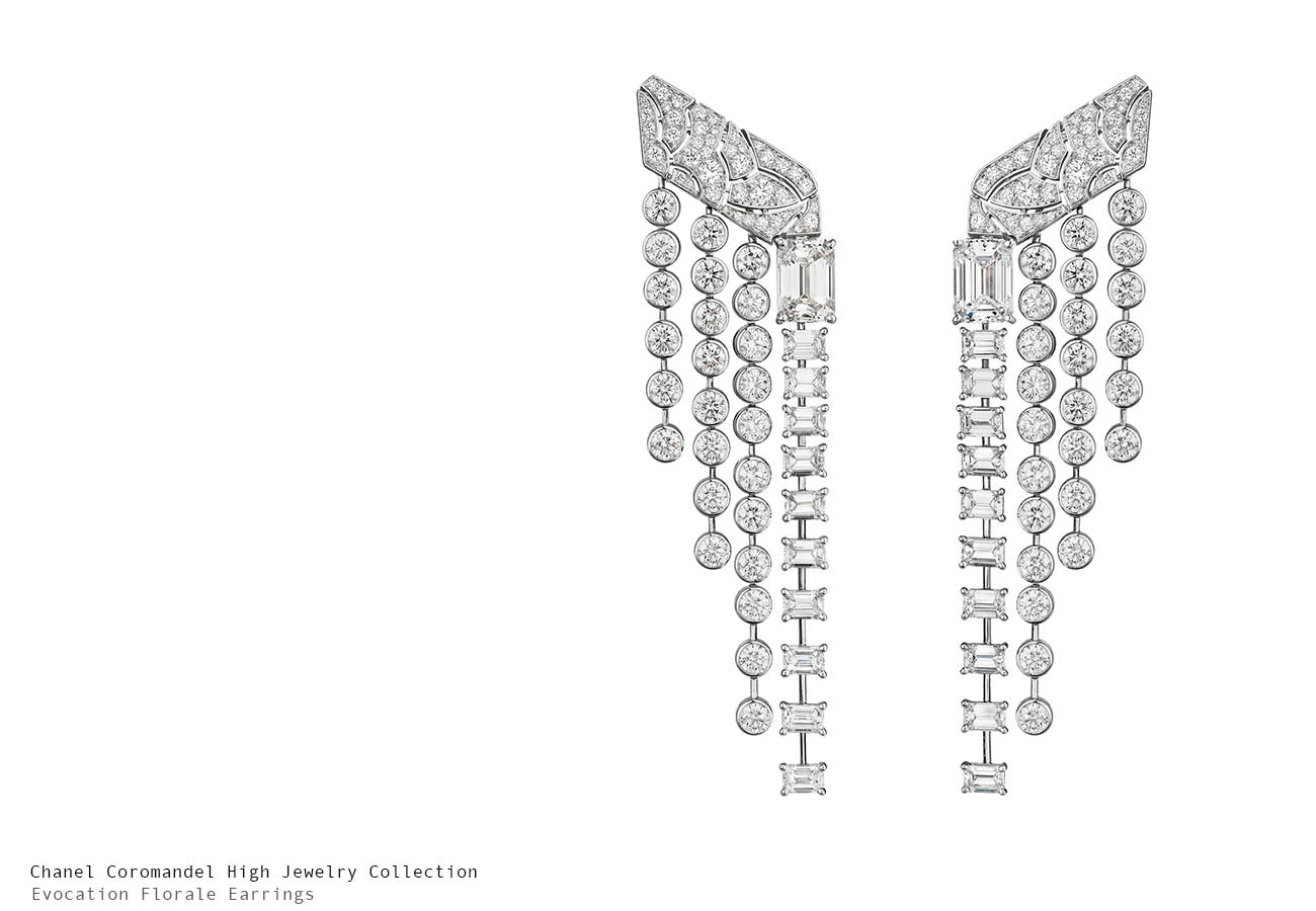 Chanel Coromandel Evocation Florale Earrings