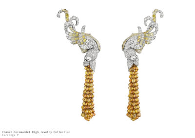 Chanel Coromandel Earrings Précieux Envol