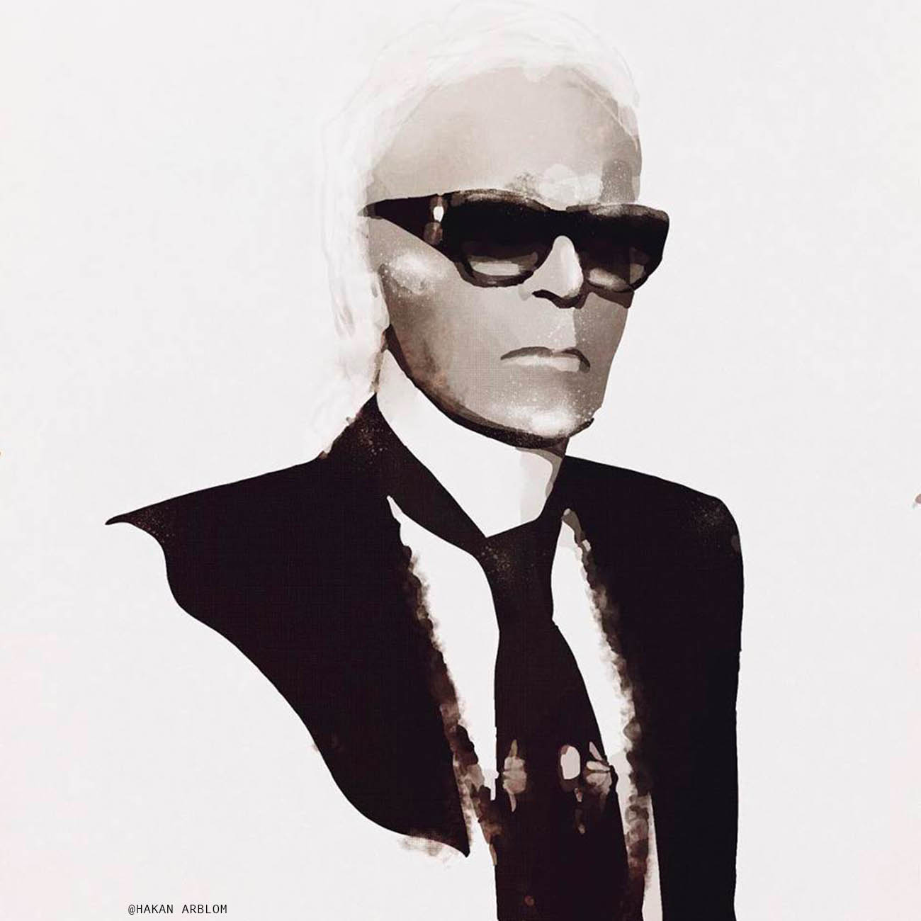 Karl Lagerfiled The JI @HakanArblon