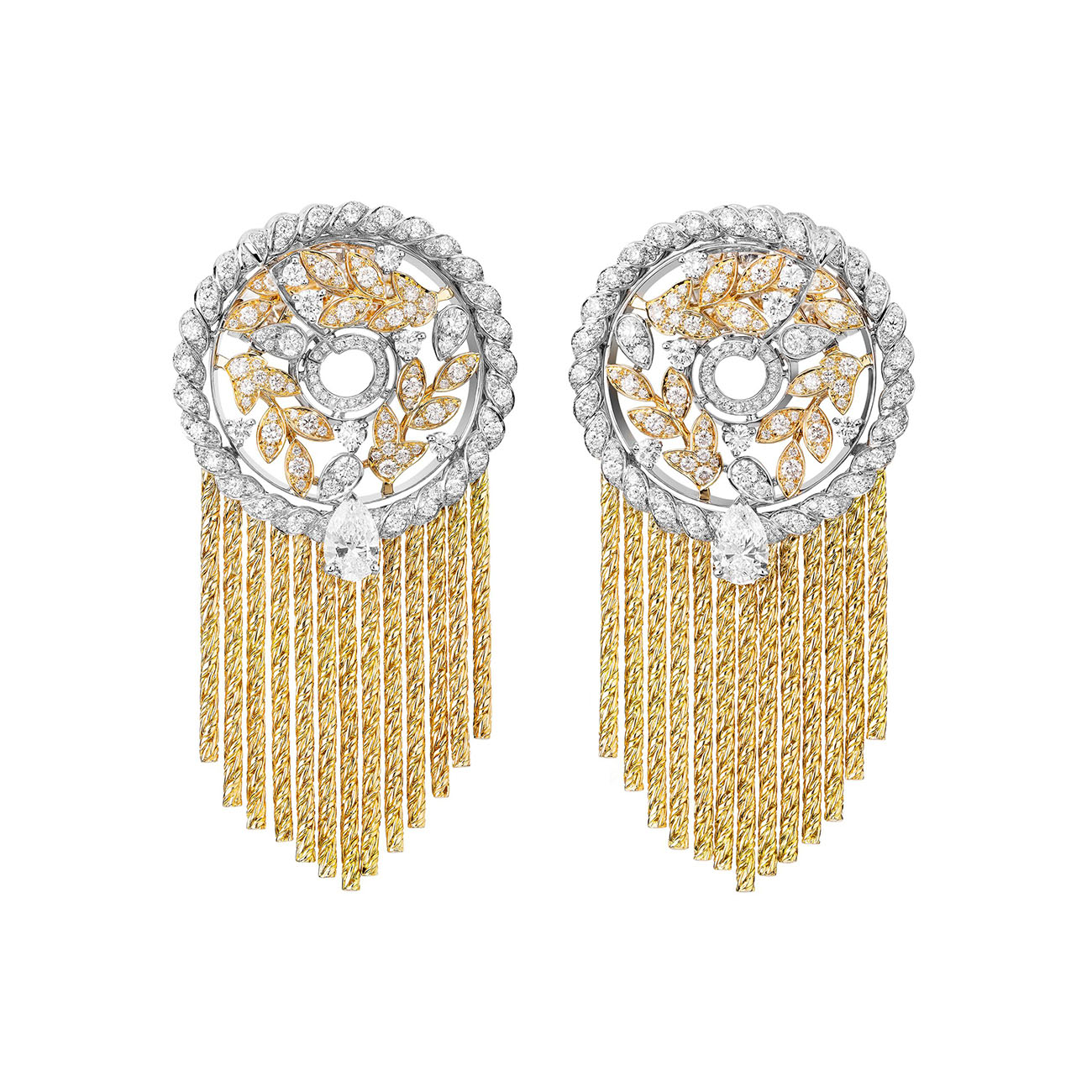 LE PARIS RUSSE DE CHANEL Blé Gabrielle earrings High Jewelry Collection