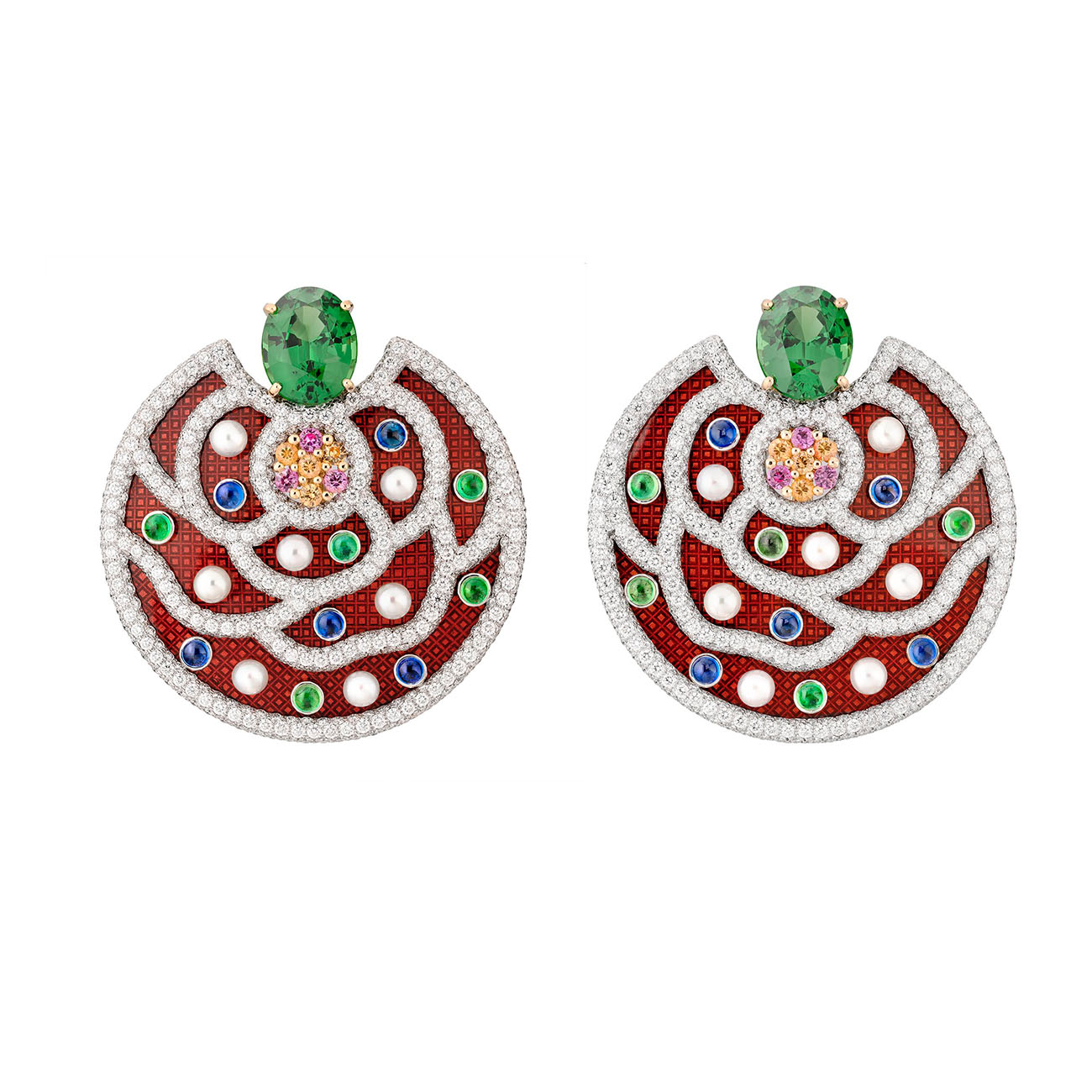 Chanel High Jewelry Collection LE PARIS RUSSE DE CHANEL Folklore Earrings