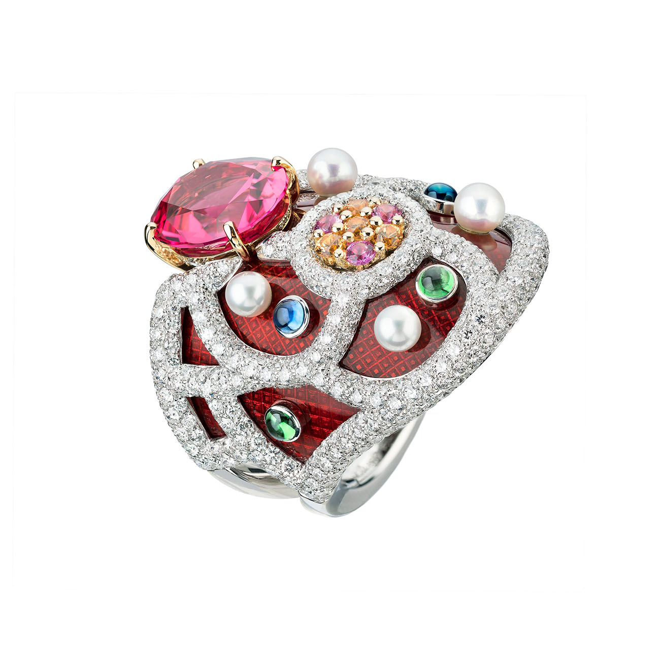 Chanel High Jewelry Collection LE PARIS RUSSE DE CHANEL Folklore Ring 2